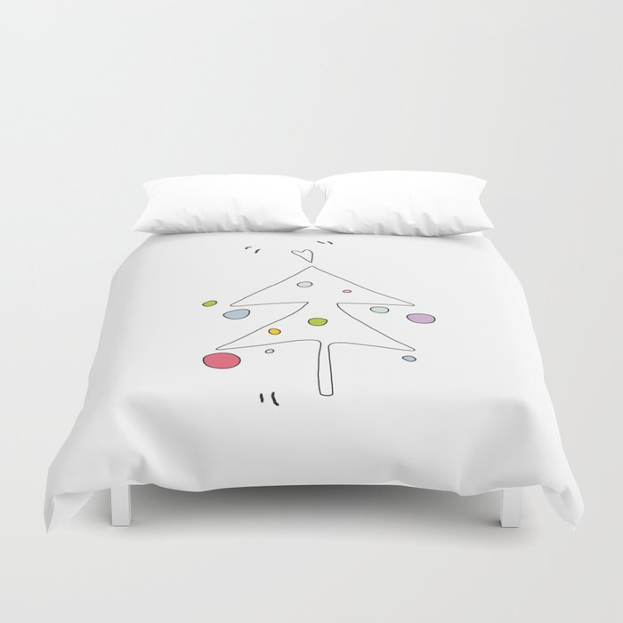 Cute Graphic Christmas Tree Duvet Cover