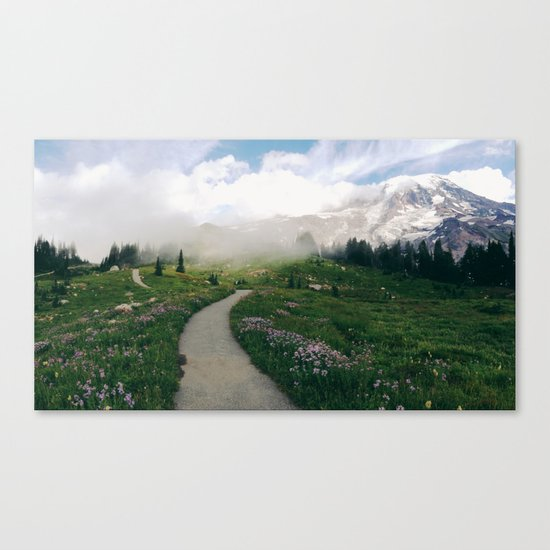 Mt Rainier Path Canvas Print