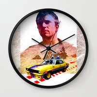 mad max Wall Clocks featuring Mad max poster by danimo