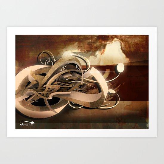 3d graffiti - 'Ready Art Print