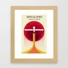 BepiColombo Mission to Mercury Framed Art Print