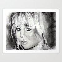 jennifer lawrence Art Prints featuring Jennifer Lawrence by Papa-Paparazzi