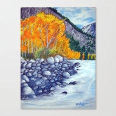Along the lake.. Canvas Print