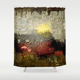 Abstract III - Rising Sun Shower Curtain