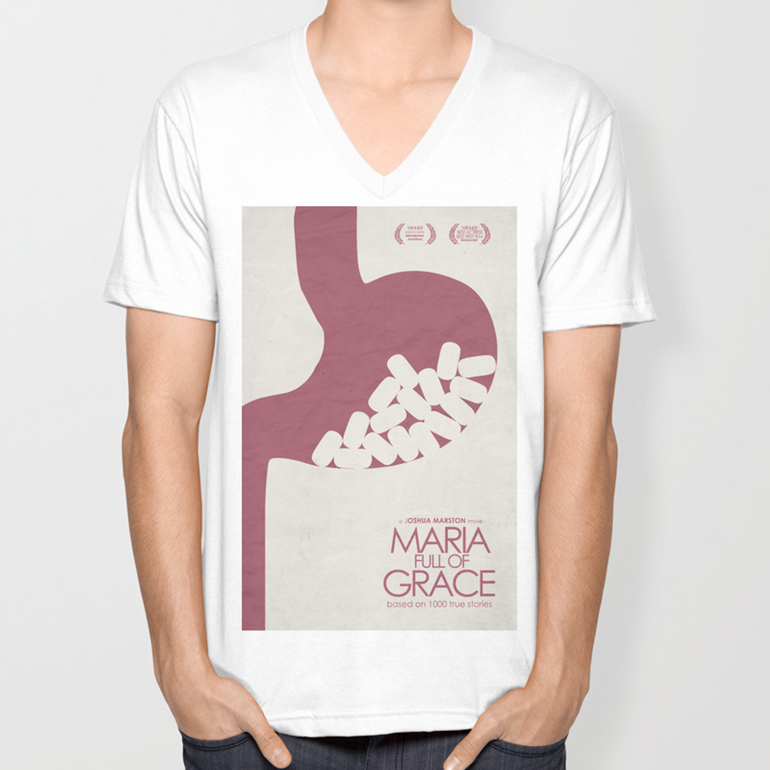 Maria Full of Grace, alternative movie poster, classic film, Joshua  Marston, colombian, drug dealer Unisex V-Neck by stefanoreves