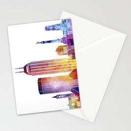 Indianapolis landmarks watercolor poster Stationery Cards