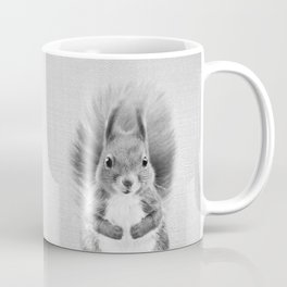 Squirrel 2 - Black & White Coffee Mug