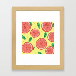 Grapefruit Summer Framed Art Print