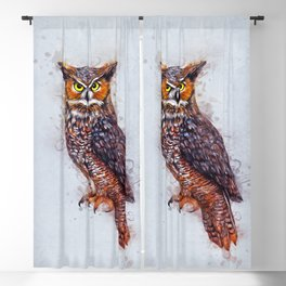 Wise Owl Blackout Curtain