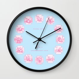 Endangered Love - Panda Sutra Wall Clock