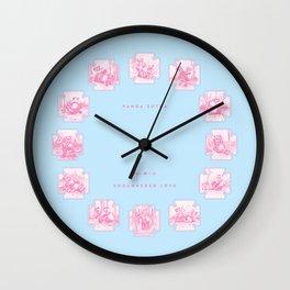 Endangered Love - Panda Sutra Wall Clock
