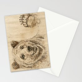 Grizzly Bear Greeting Stationery Cards