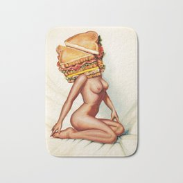 Sandwich Girl Bath Mat