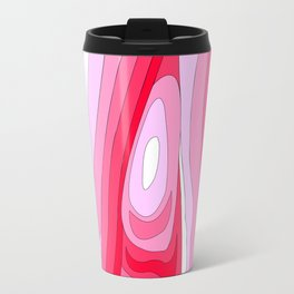 Abstract Psychedelic Ombre Pink Swirls Digital Illustration Travel Mug