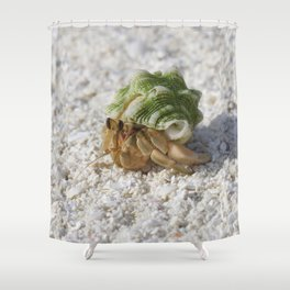 Hermit crab on a mission Shower Curtain