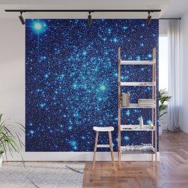 Vivid Blue gALaxY Stars Wall Mural