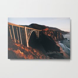Sunburnt Bixby Bridge - Big Sur, California Metal Print