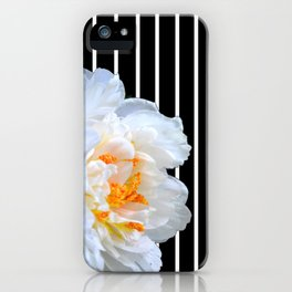 White Petals And Stripes iPhone Case