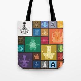 Animal Zen patchwork Tote Bag