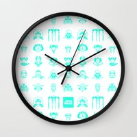 starwars Wall Clocks featuring StarWars icon by SUSANNA CONTOLI