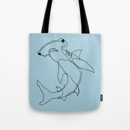 Hammerhead Shark (blue) Tote Bag