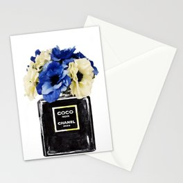 Perfume painting with flowers Stationery Cards