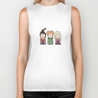 hocus pocus Biker Tanks featuring Hocus Pocus by Big Purple Glasses