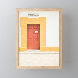 Seville XI [ Andalusia, Spain ] Red and Yellow Door⎪Colorful travel photography Poster Framed Mini Art Print