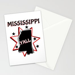 Mississippi State Pride Y'all Stationery Cards
