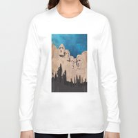 rushmore Long Sleeve T-shirts featuring Night Mountains No. 15 by Bakmann Art