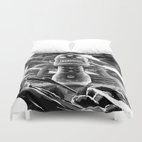 totem Duvet Covers featuring Totem by A P Schofield fine arts