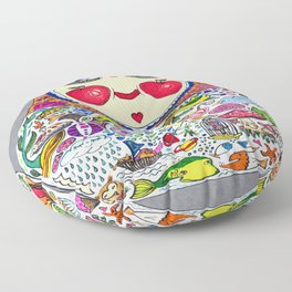 'Cheeks like apples' Matryoshka doll Floor Pillow