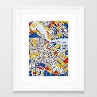 mondrian Framed Art Prints featuring Amsterdam Mondrian by Mondrian Maps