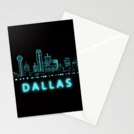 Digital Cityscape: Dallas, Texas Stationery Cards
