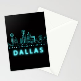 Digital Cityscape: Dallas, Texas Stationery Cards