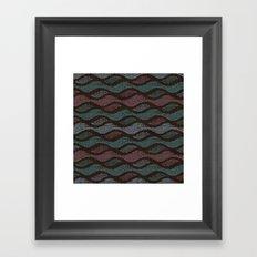 WOOL WAVES Framed Art Print
