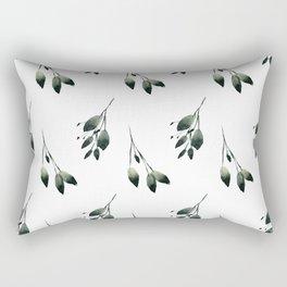 Winter Leaf Pattern Rectangular Pillow