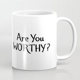 Mini Thor's Hammer - Are you Worthy? Coffee Mug