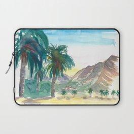 La Gomera Valle Gran Rey View with Palms Laptop Sleeve