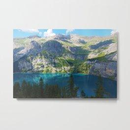 Lake Oeschinen, Switzerland, Bergsee Mountains Photographic Metal Print
