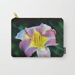 Lavender And Yellow Lily Carry-All Pouch
