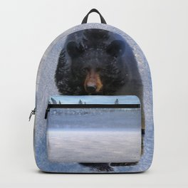 Animal Tracks - Black Bear in Snow Backpack
