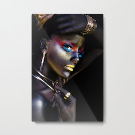 Night Woman Metal Print