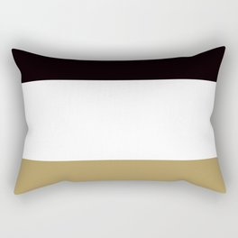 Team Colors 8... Gold , blackand white Rectangular Pillow
