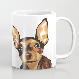 Billie the Miniature Pincher Puppy Coffee Mug