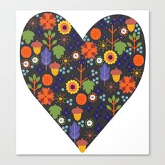 Woodland Heart Canvas Print