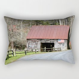 Patriotic Barn Rectangular Pillow