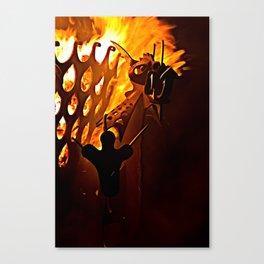 Flaming Mohawk Canvas Print