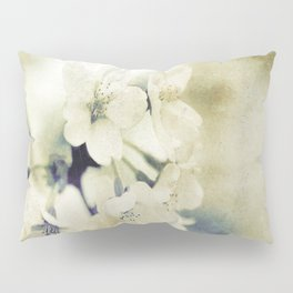 Yellow Green Vintage Cherry Flowers Pillow Sham