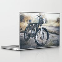 cafe racer Laptop & iPad Skins featuring Cafe Racer by Joey Gessner
